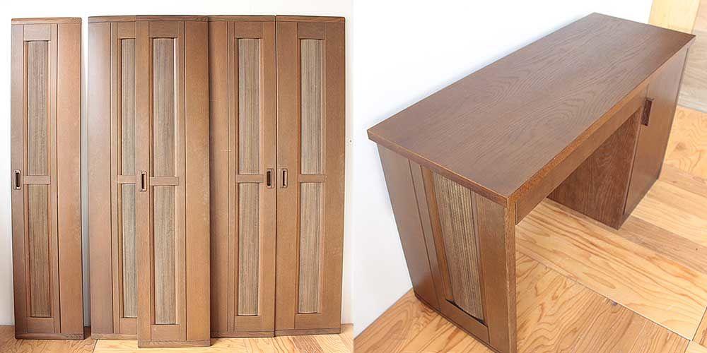 クローゼット扉をデスクの脚に 家具リメイク事例:R245 Before&after