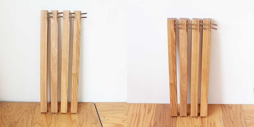 ダイニングテーブルの脚をカットし好みの高さに 家具リメイク事例:R250 Before&after