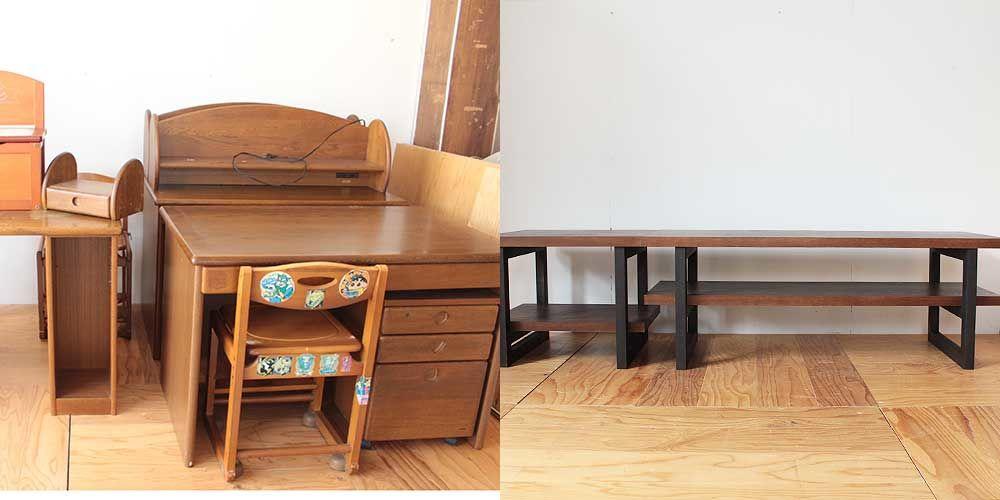 学習机をテレビボードに 家具リメイク事例:R251 Before&after