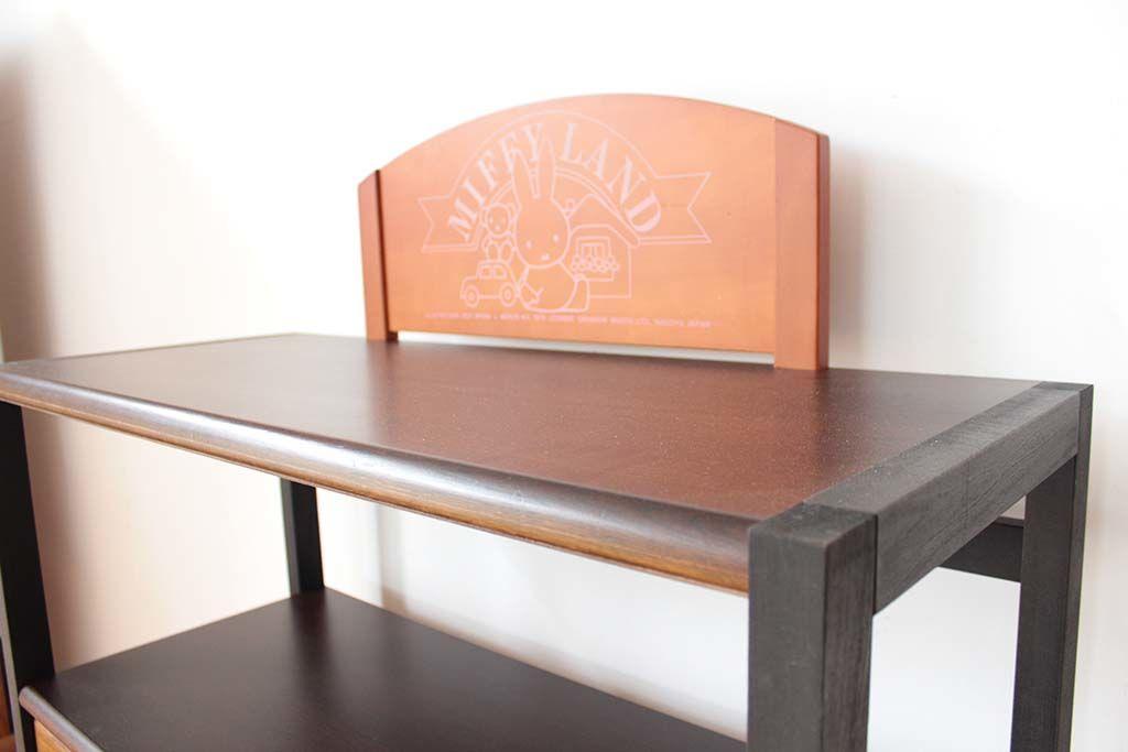 学習机リメイクキッチン収納棚ミッフィー背板