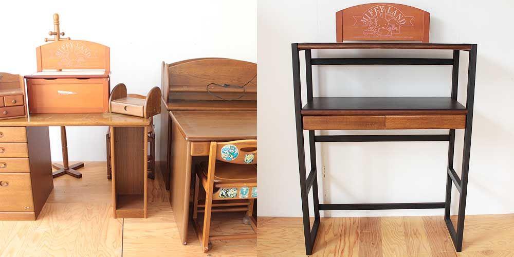 子供部屋の家具のプリントを生かしたシンプルラック 家具リメイク事例:R252 Before&After