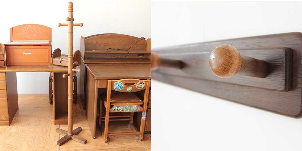 スタンド式洋服掛けを壁面取り付けタイプに 家具リメイク事例:R253 Before&After