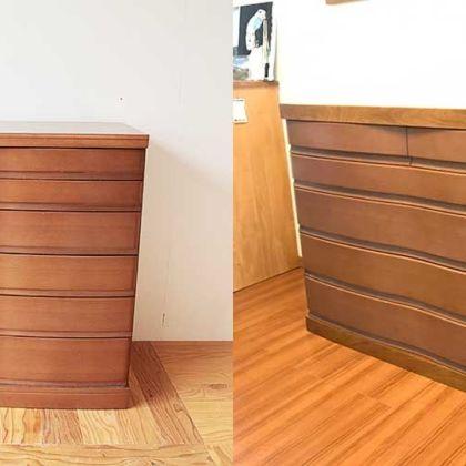 引越し後のスペースに合わせてタンスをリサイズ 家具リメイク事例:R255 Before&After