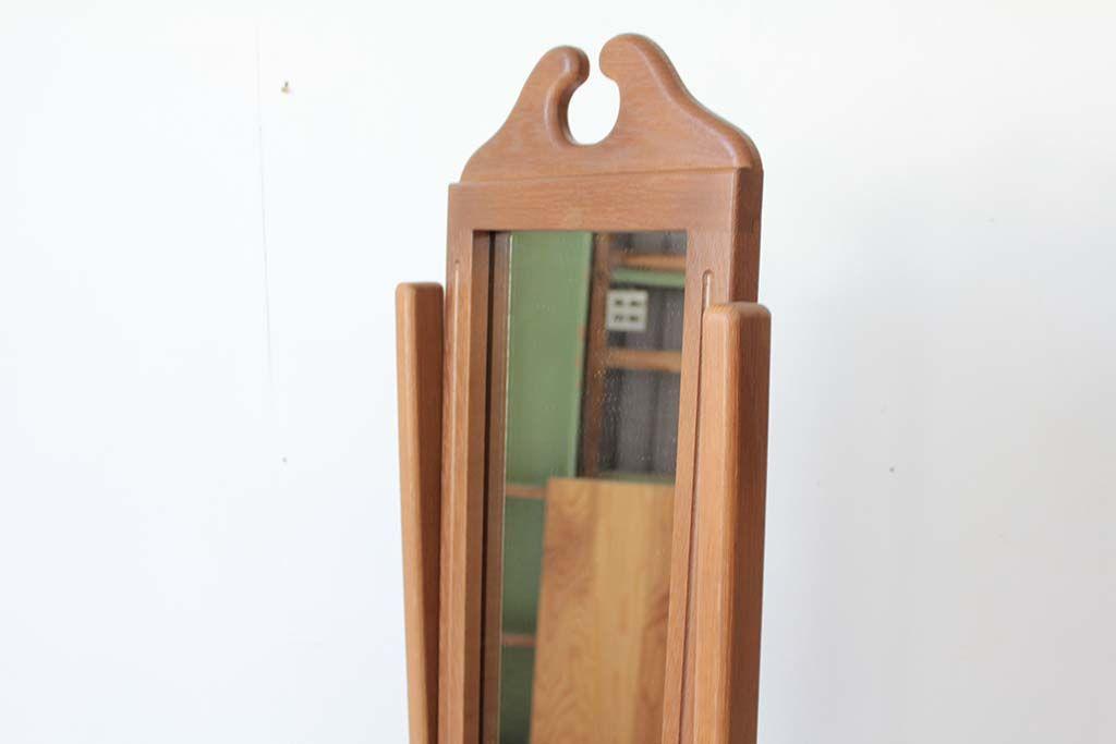 婚礼家具クローゼットの鏡から姿見アンティーク調シュバルミラー上部装飾