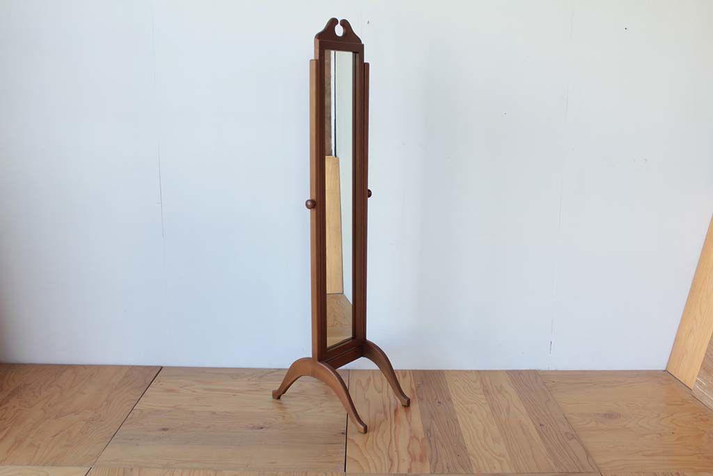 婚礼家具クローゼットの鏡から姿見アンティーク調シュバルミラーへリメイク垂直