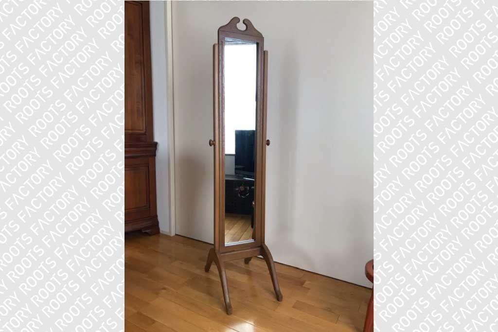 婚礼家具クローゼットの鏡から姿見アンティーク調シュバルミラーへリメイク納品画像