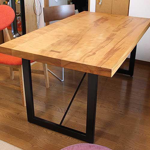 ダイニングテーブル高さを低くリサイズリメイク