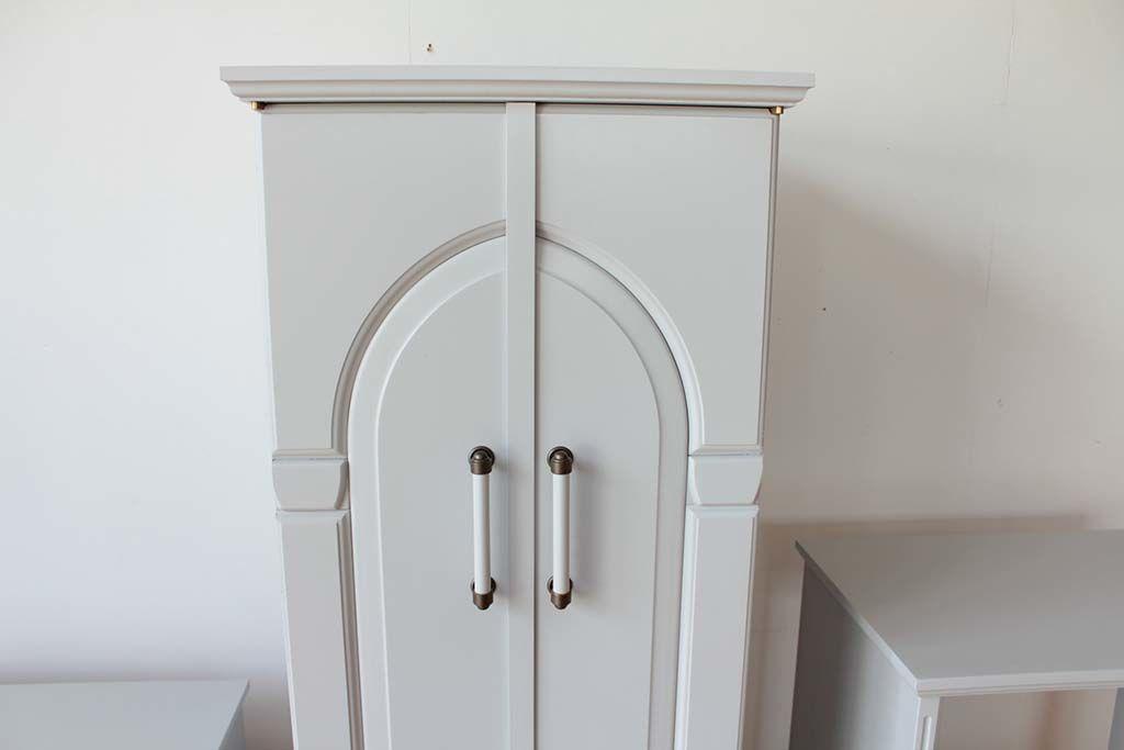 婚礼家具洋服箪笥をお仏壇へリメイククローゼット扉を加工