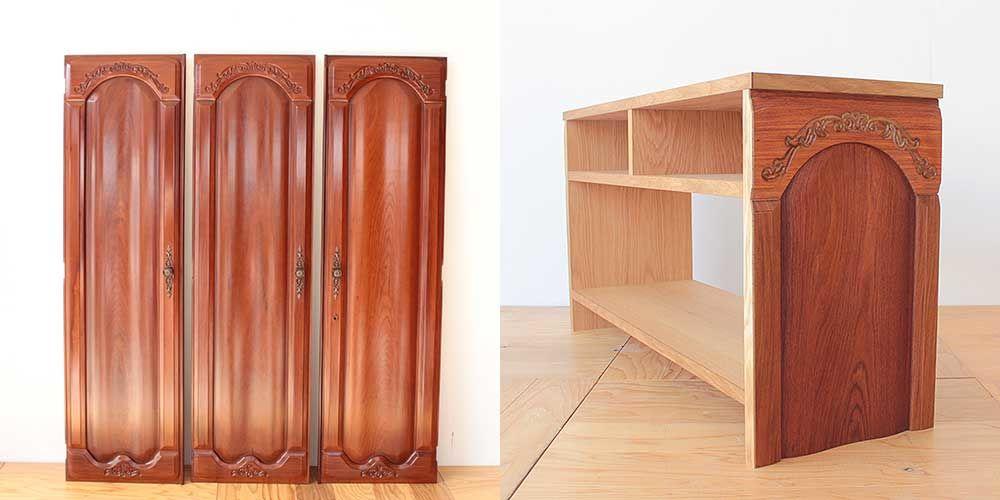 婚礼家具クローゼット扉をテレビボードへリメイク 家具リメイク事例:R265 Before&after
