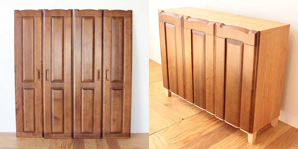 婚礼家具4枚扉クローゼットからお仏壇を置くキャビネットへリメイク 家具リメイク事例:R266 Before&after