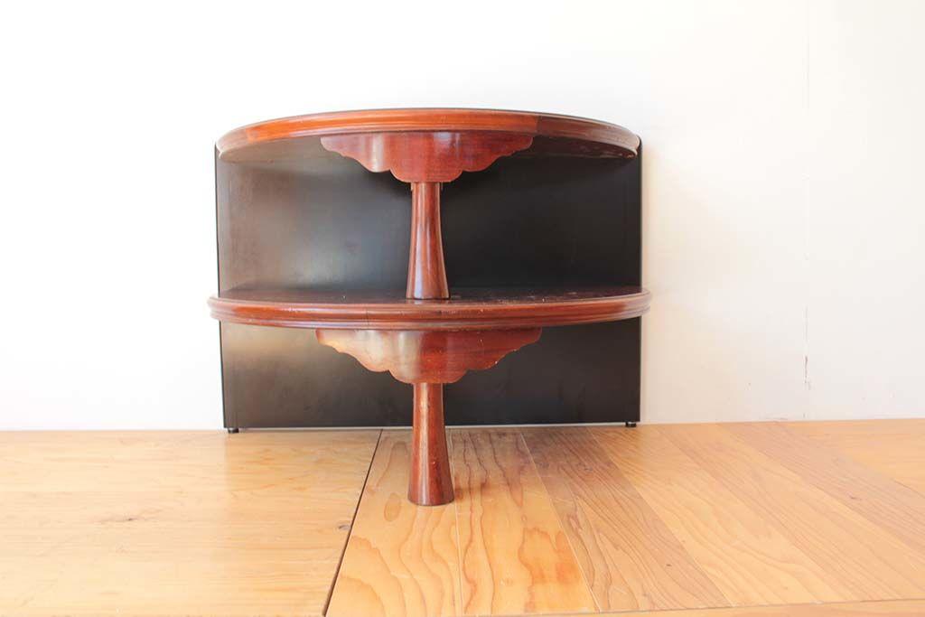 丸ちゃぶ台を半円形のお仏壇台にリメイク2段の飾り台