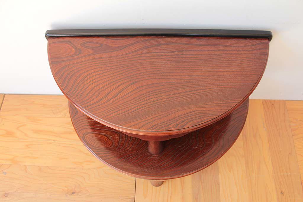 丸ちゃぶ台を半円形のお仏壇台にリメイク天板