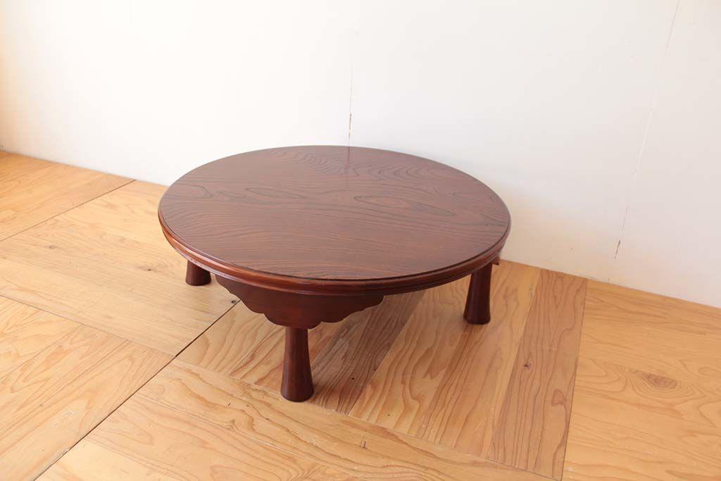 丸ちゃぶ台を半円形のお仏壇台にリメイクリメイク元ちゃぶ台
