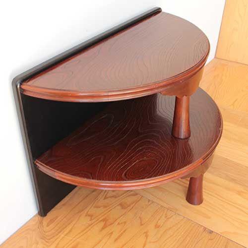 円形のちゃぶ台を半円形のお仏壇台にリメイク