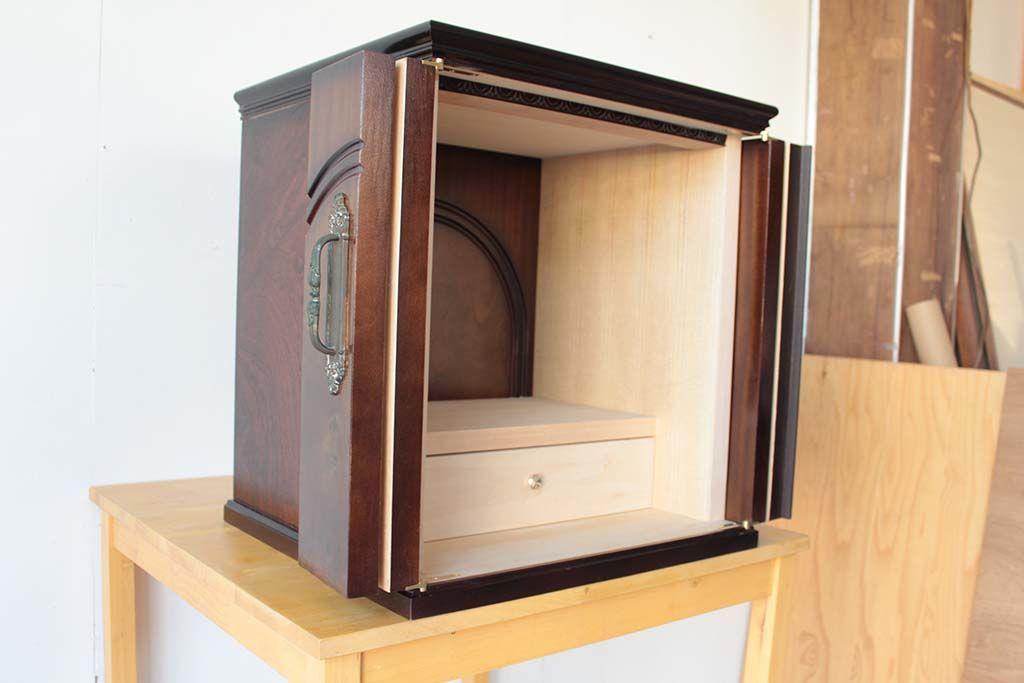 婚礼家具の和タンスをお仏壇にリメイク内部シンプル仕上げ