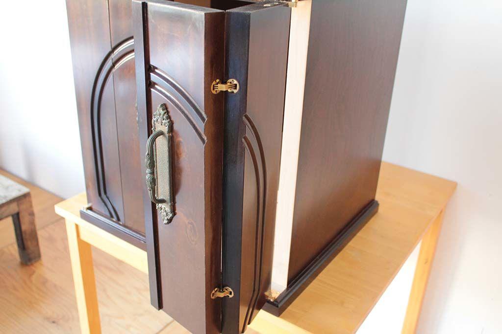 婚礼家具の和タンスをお仏壇にリメイク扉は折扉