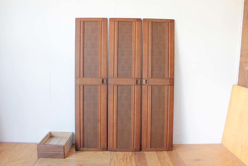 リメイク元婚礼家具3枚扉クローゼットと引き出し