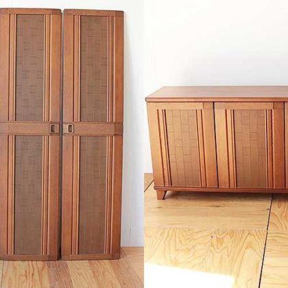 婚礼家具3枚扉クローゼットをリビングボードにリメイク 家具リメイク事例:R270 Before&after