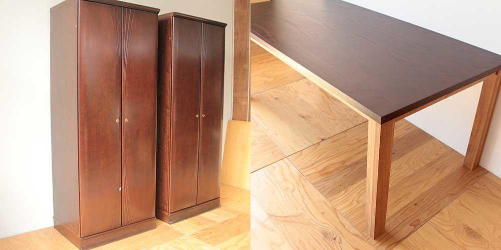 クローゼットからダイニングテーブルへリメイク 家具リメイク事例:R271 Before&after