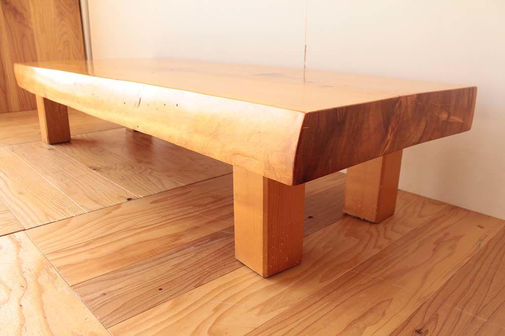 リメイク元天板厚み10cm程の無垢座卓