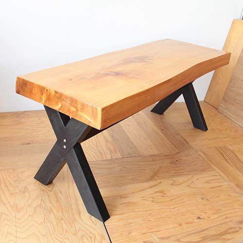 無垢座卓をダイニングテーブルにリメイク