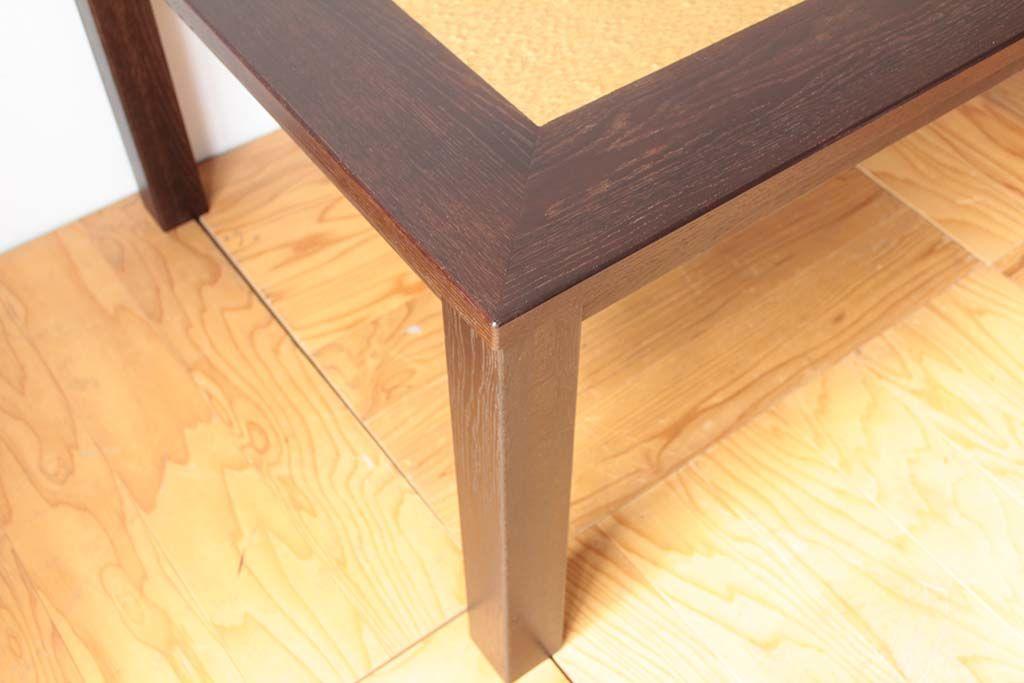 婚礼家具バーズアイクローゼットからダイニングテーブルへリメイクダーク色塗装