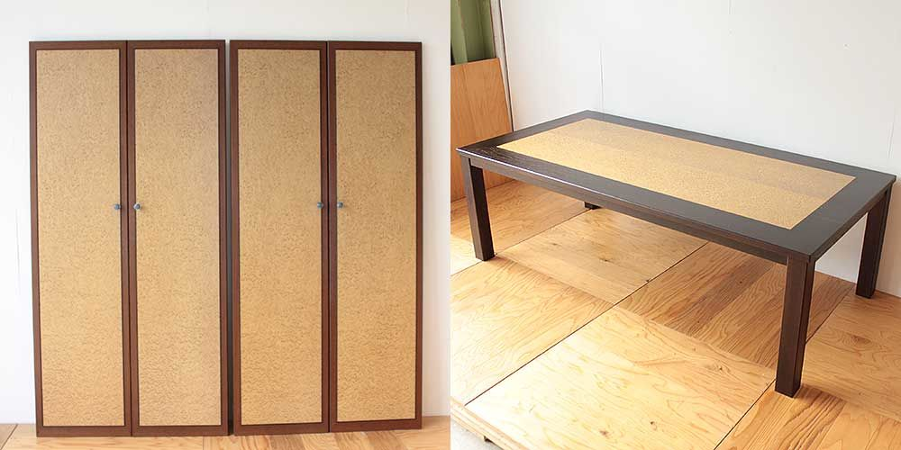 婚礼家具バーズアイクローゼットからダイニングテーブルへリメイク 家具リメイク事例:R276 Before&after