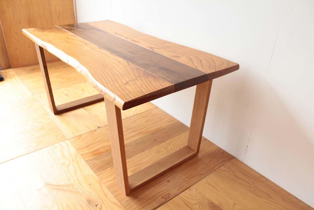 無垢天板のローテーブルをダイニングテーブルにリメイク