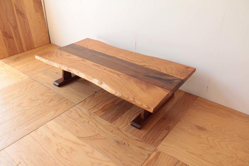 リメイク元無垢材ローテーブル