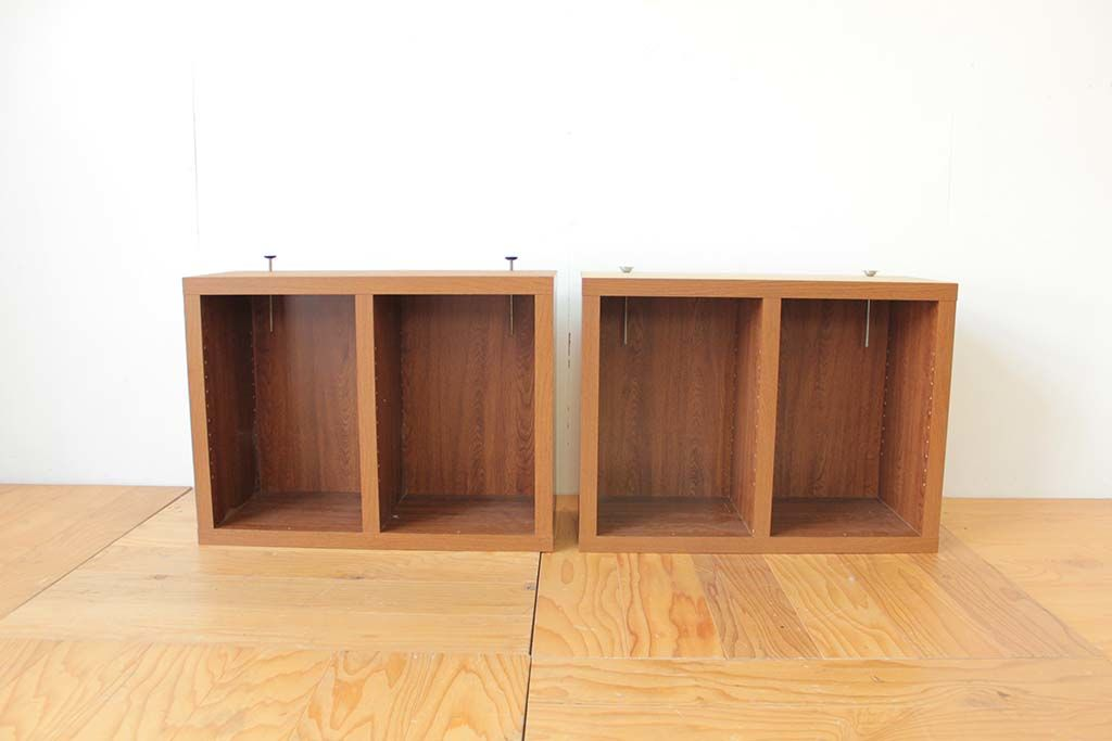 本棚1cm高さを低くリサイズリメイク2ユニット正面