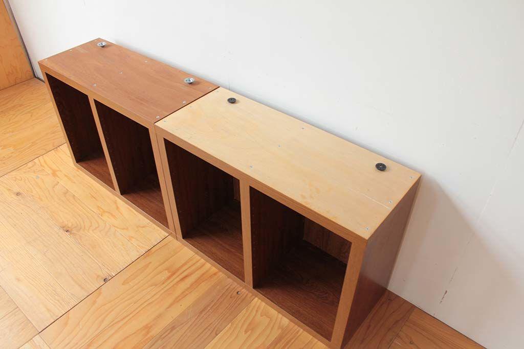 本棚1cm高さを低くリサイズリメイク2ユニット