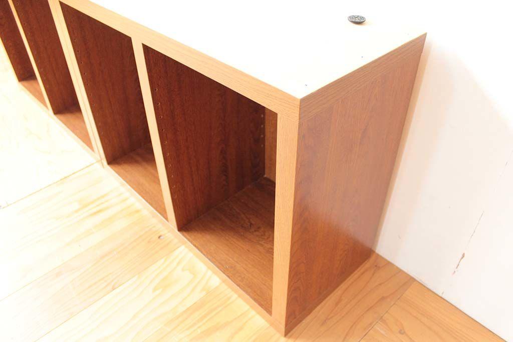 本棚1cm高さを低くリサイズリメイク2ユニット同じサイズに