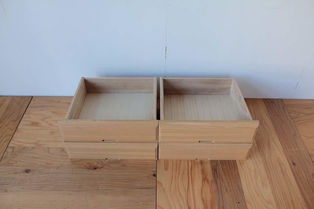 リメイク元婚礼家具整理箪笥の引き出し4段