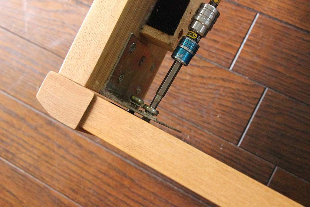 ベッドフレーム脚カットリサイズリメイク納品組立