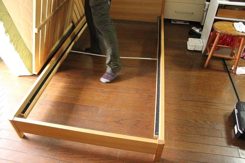 ベッドフレーム脚カットリサイズリメイク納品設置