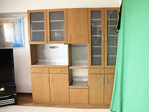 高さをリサイズさせていただいた食器棚