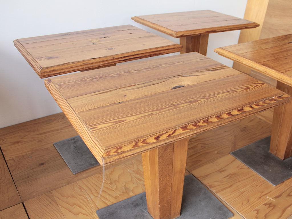 リメイクのためお預かりしたカフェテーブル4台