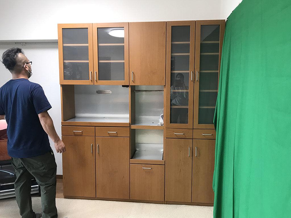 高さリサイズのご相談をいただいた食器棚
