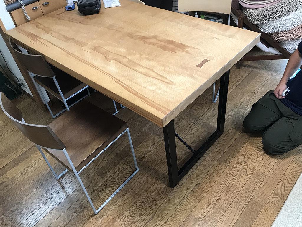 リサイズのご相談をいただいたダイニングテーブル