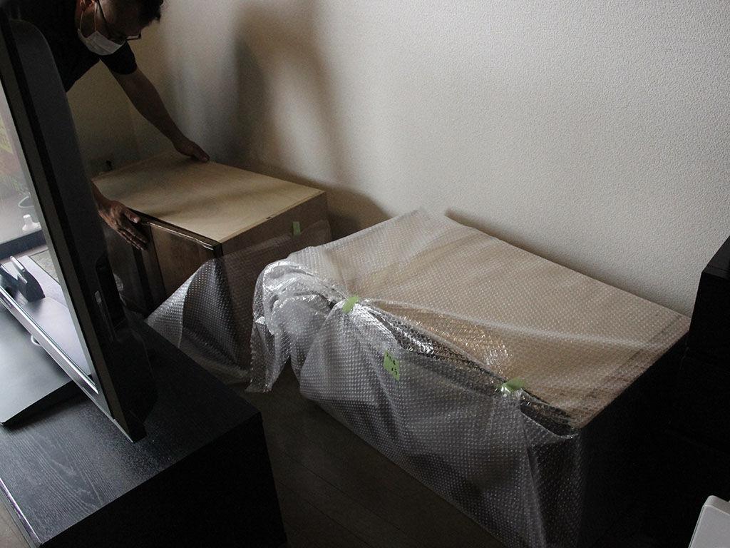 婚礼家具をリメイクして作ったテレビ台の納品