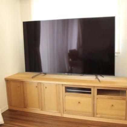 婚礼タンスからリメイクしてお部屋の寸法にも雰囲気にもぴったりなテレビ台