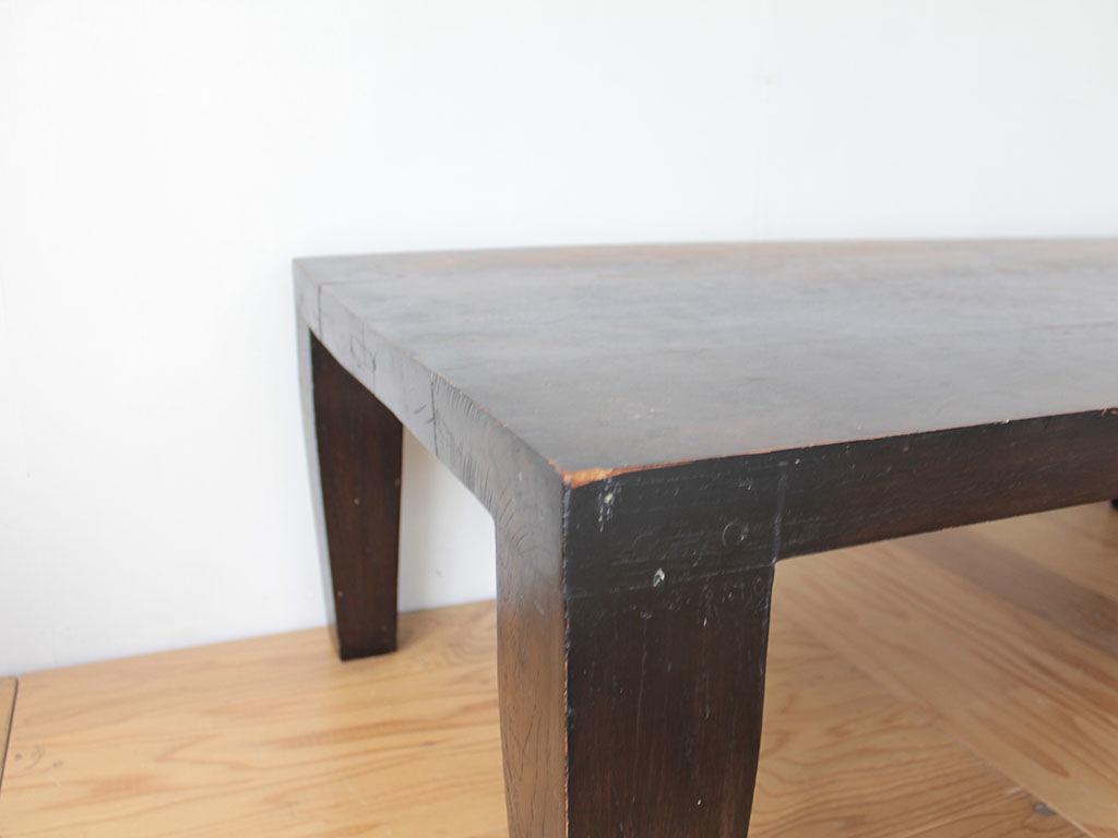 リメイクのご依頼をいただいた無垢チークのローテーブル