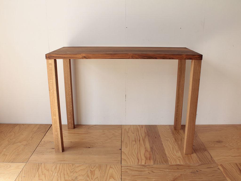 無垢チークのテーブルをロータイプからハイタイプにリメイク