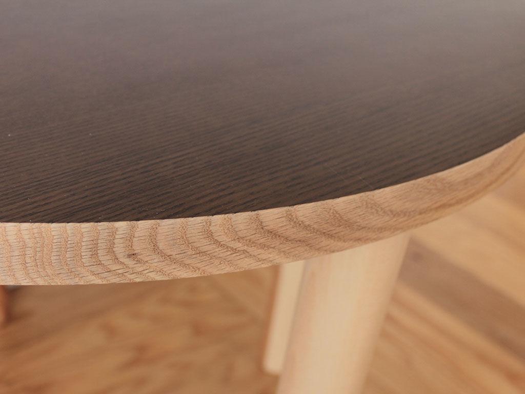 座卓をリメイクした円形テーブル