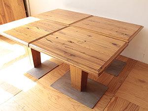 店舗用カフェテーブル4台の高さをリサイズ アイキャッチ