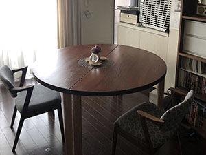 リメイクさせて頂いたテーブルの納品後 アイキャッチ