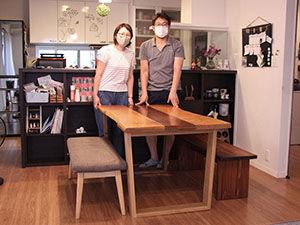 ローテーブルをダイニングテーブルにリメイク アイキャッチ