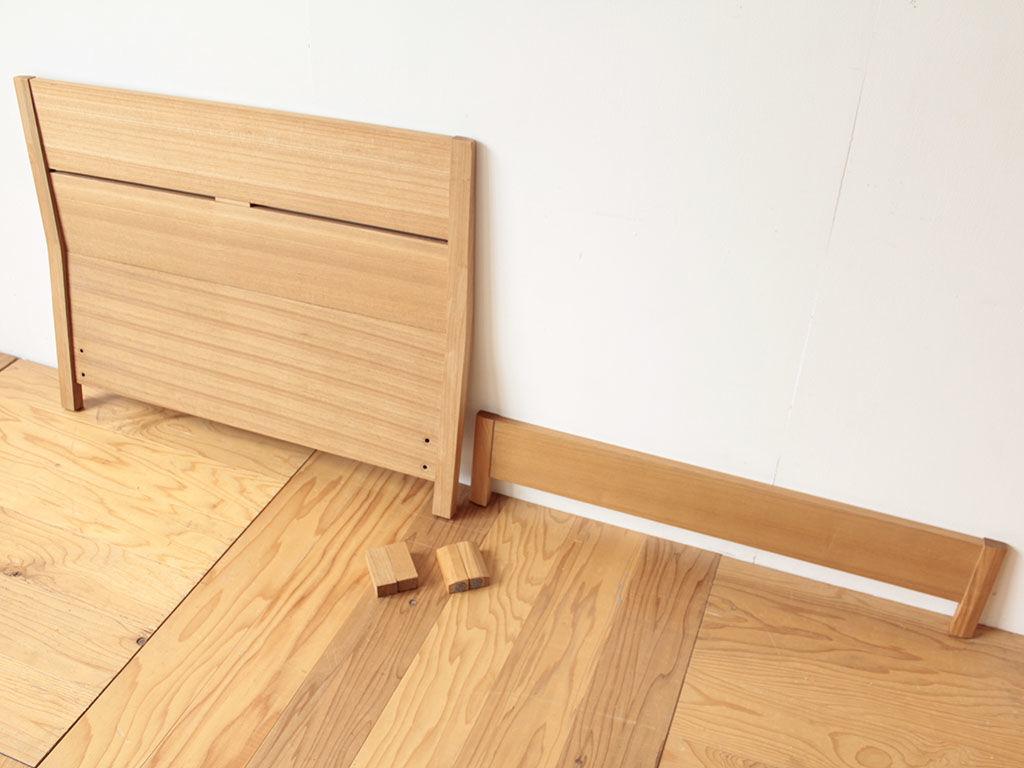 10cmカットして高さが低くなったベッド フレーム