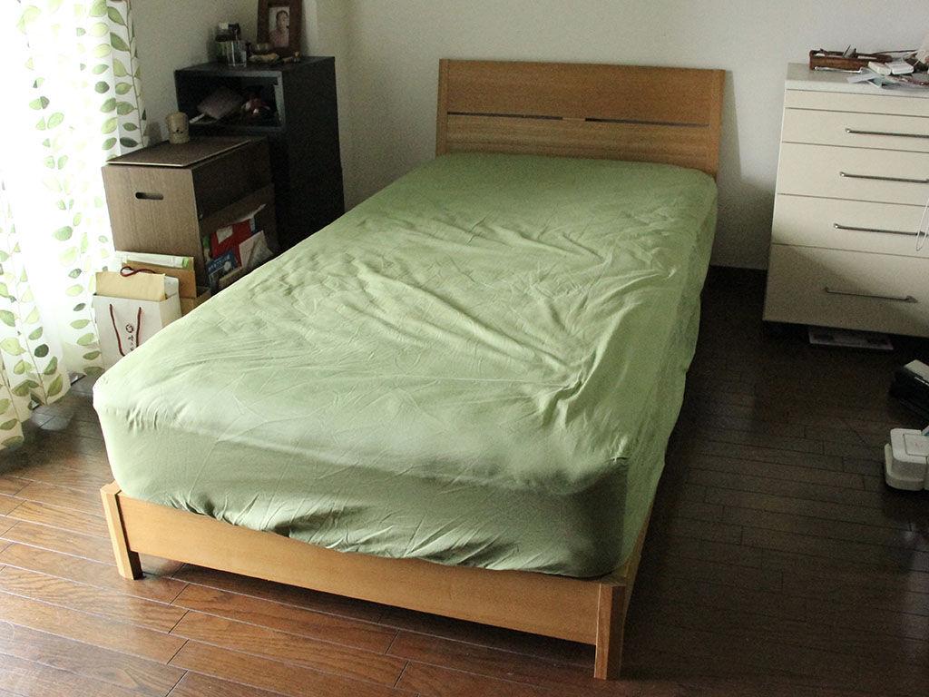 ベッドの高さが低くなりお部屋の空間全体も広々と