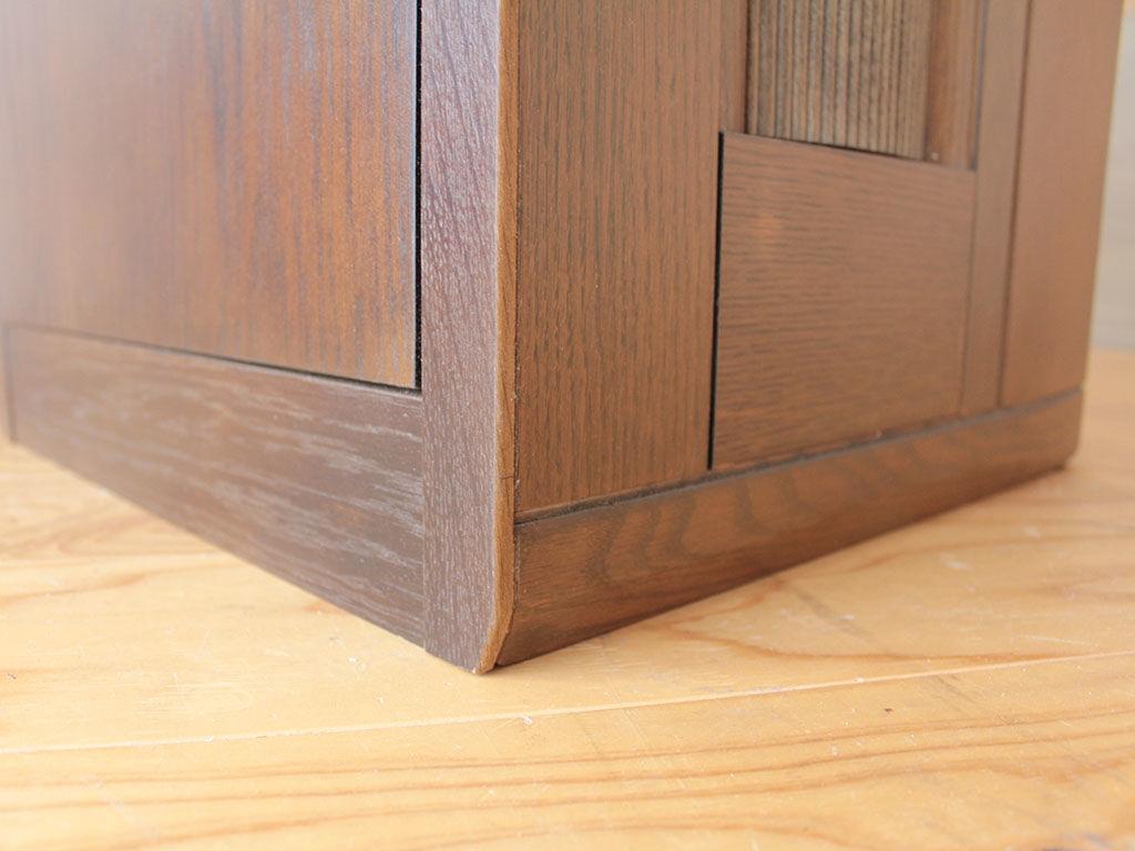 婚礼タンスの扉を補強してデスクの脚に使用